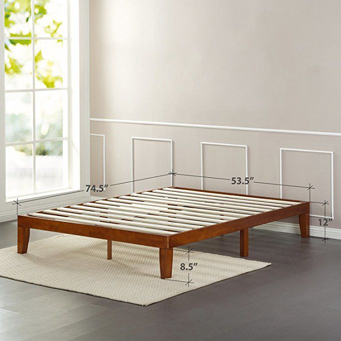 Amazon Com Zinus 12 Inch Wood Platform Bed No Boxspring Needed