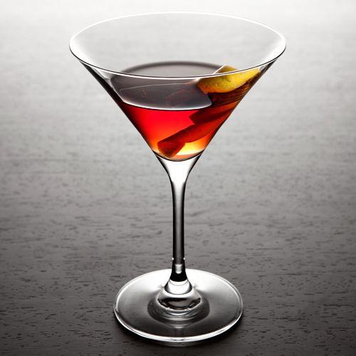Black Ship: whisky, pom, port, lemon