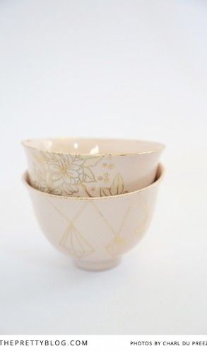 Pink & Gold Porcelain - KAMERS 2013 on The Pretty Blog - Photo by Charl du Preez