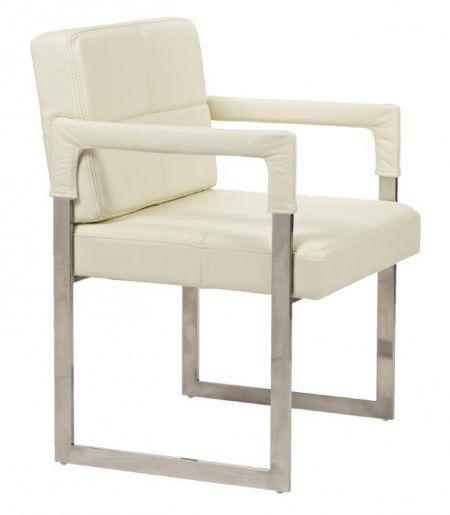 Это кресло станет отличным украшением для гостиной в минималистичном стиле, будет здорово смотреться в паре с мягкой мебелью светлого цвета, также кресло будет уместно в рабочем кабинете. Оно имеет отточенные формы, кресло обито кожей кремового цвета, каркас кресла, а также квадратные ножки сделаны из стали. Это кресло на первый взгляд выглядит достаточно просто и неброско, но присмотревшись, можно сразу определить, что это роскошный и качественно сделанный предмет мебели.             Метки…