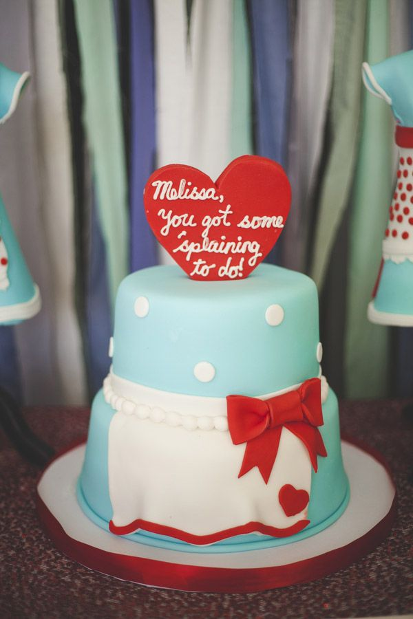 This retro bridal shower is the definition of adorable. View more pictures on Showerbelle.