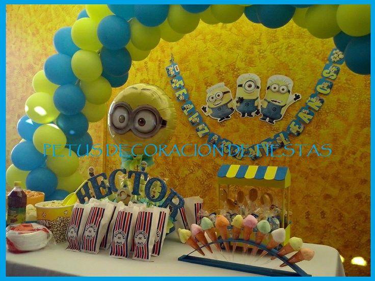 Decoración de Minions Arco de Globos, Candy & Snack Bar ...
