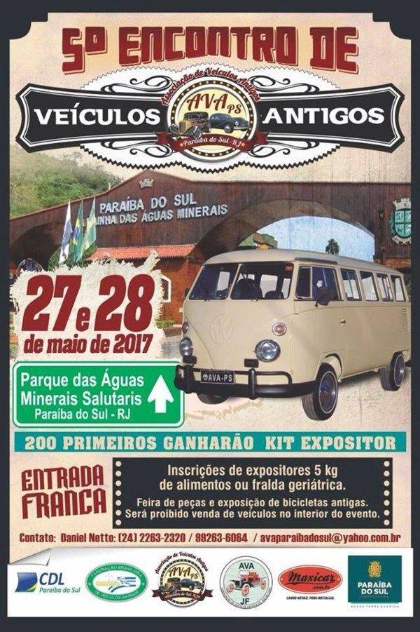 5º Encontro de Veículos Antigos de Paraíba do Sul – RJ • 27 e 28/05 – Maxicar.com.br – Carro antigo, pura nostalgia.