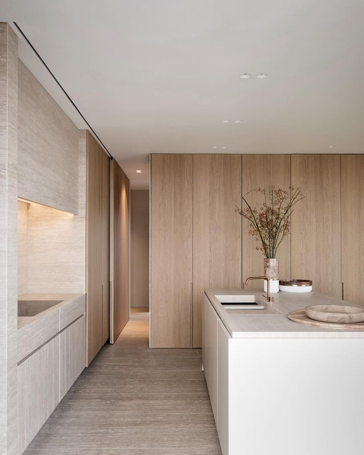 """From our upcoming """"Private Spaces"""", this refined kitchen in a penthouse designed by Egg Interior Architects. This essential title presents…"""