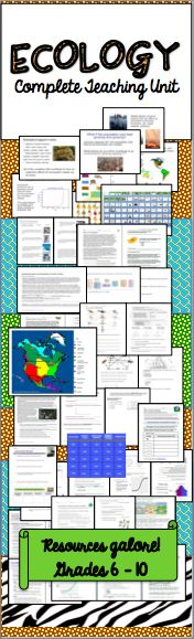 134 best ecology lessons for middle and high school images on includes 5 weeks of material with suggested unit planner easy squeezy lemon peasy sciox Choice Image