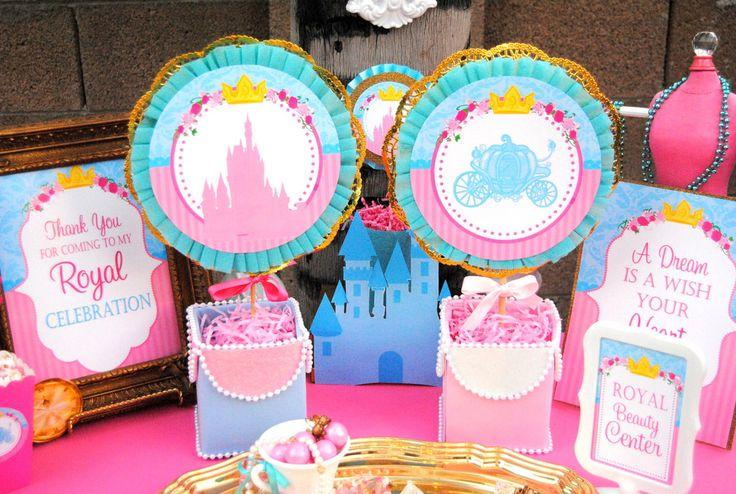 PRINCESS Party - Blue Princess Signs - Princess
