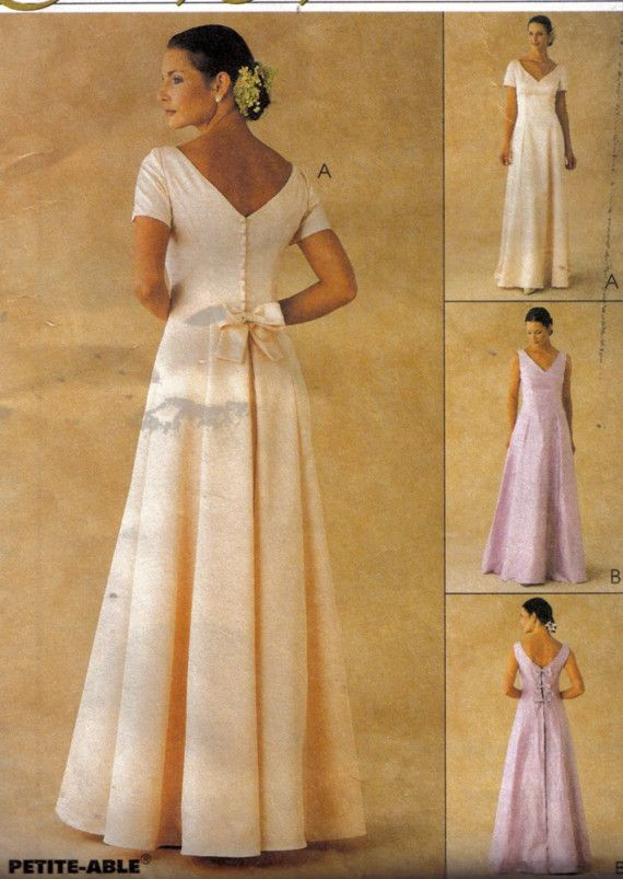 Mccall 39 s 2026 sewing pattern evening elegance wedding for Mccall wedding dress patterns