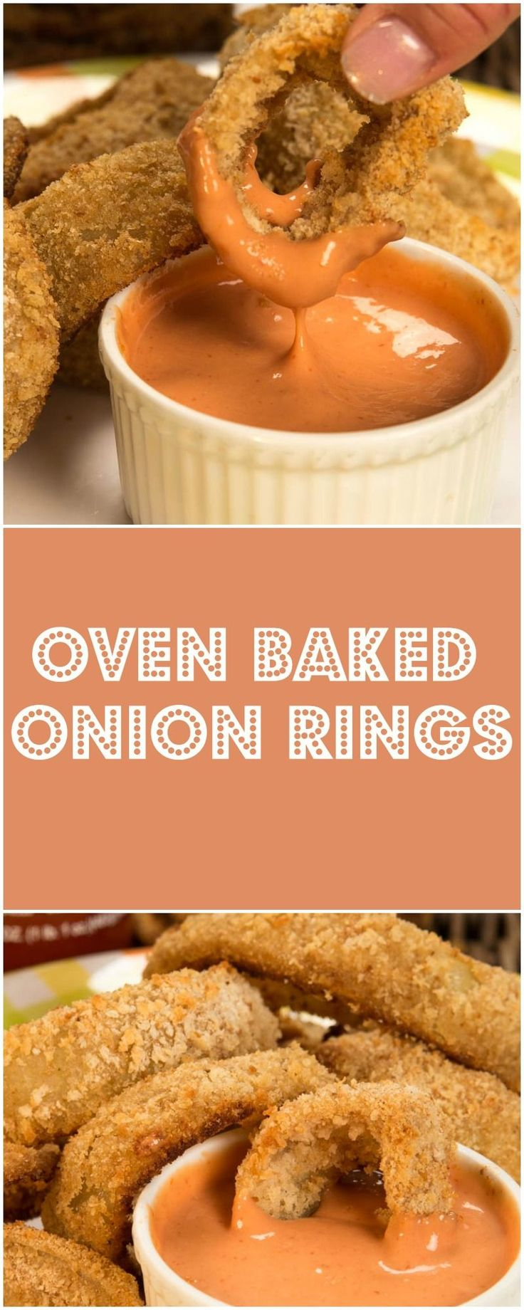 There is just something about the smell of Onion Rings that immediately makes your mouth water. I have to say these Oven Baked Onion Rings did just that. Oven Baked Onion Rings are so simple to make, they can be done in 3 easy steps, shake, dunk, and dip.