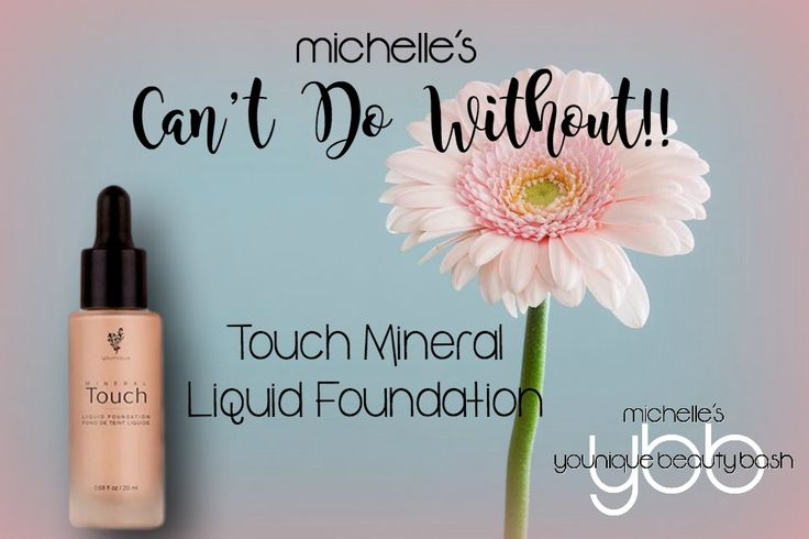 One of my TOP Younique products!! I've tried a LOT of foundations, from the high-priced Chanel to the drugstore brands, but Younique's liquid foundation is now my all-time favorite!! No more heavy makeup that comes off on your fingers if you touch your face!! This magical formula is lightweight with exceptional coverage!! https://www.youniqueproducts.com/MichelleFelmlee