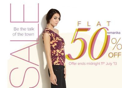Get Flat 50% OFF on Stylish, sexy, unexpected REMANIKA Clothing for Girls!!!  Don't forget to use coupon code SIGN UP to get EXTRA 15% discount.