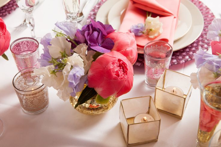 Flower Arranging Ideas: Bridal Shower