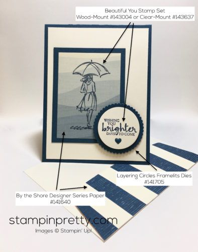 Beautiful You stamp set sympathy card created by Mary Fish, Stampin' Up! Demonstrator.  1000+ StampinUp & SUO card ideas.  Read more http://stampinpretty.com/2016/12/simple-pretty-sympathy-card.html