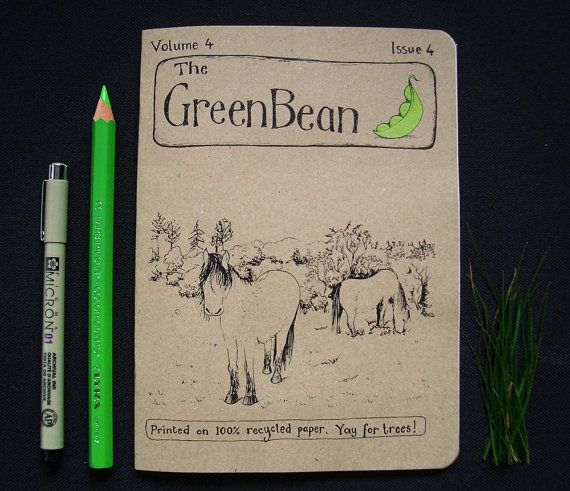 Green Bean Vol. 4 Issue 4 - Another fab issue of Katie Green's zine. Lots of lovely wildlife illos and maps this time.