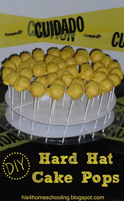 diy hard hat cake pops