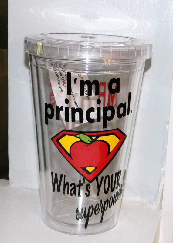 Principal Gift Teacher Personalized tumbler by dreamingdandelions