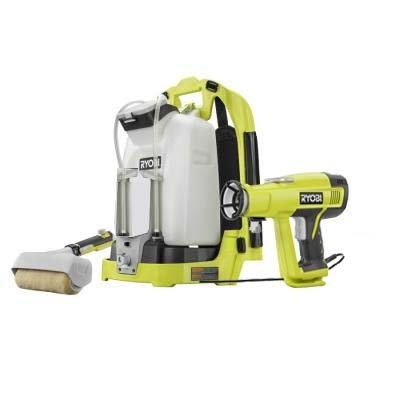 The Ryobi® Backpack Power Paint Sprayer features an ergonomic backpack design, so paint projects have no limits. The system is powered by an 18V lithium-ion battery (part of the Ryobi® ONE  system and interchangeable with all ONE  products (Battery is NOT INCLUDED)) meaning double the battery...