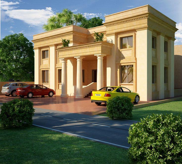 Villa Elevation Plan : Best arabian villas images on pinterest facades
