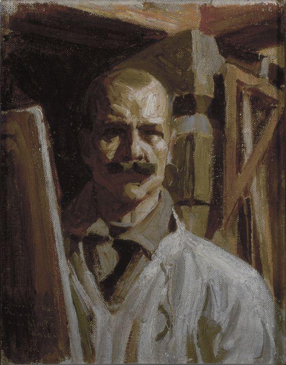 Akseli Gallen-Kallela: Omakuva Firenzen Uffizi-galleriaa varten, 1916