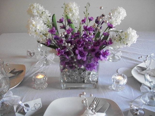 17 Best Ideas About Purple Centerpiece On Pinterest