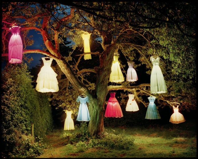 Dresses, colours and lights.
