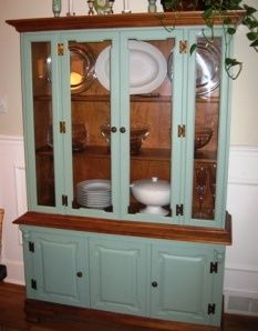 China Hutch RedoI Love How The Left Inside And Some Trim Unpainted