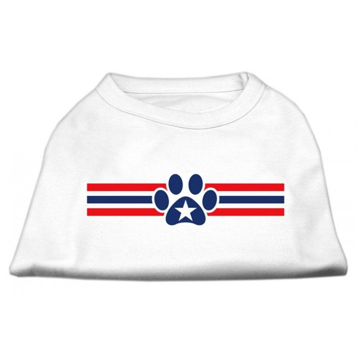 Patriotic Star Paw Screen Print Shirts White XXXL(20)  A poly/cotton #sleeveless #shirt for every day wear, double stitched in all the right places for comfort and durability!