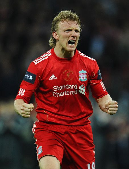Dirk Kuyt of Liverpool celebrates as he scores in the penalty shoot out during the Carling Cup Final match between Liverpool and Cardiff City at Wembley Stadium on February 26, 2012 in London, England.