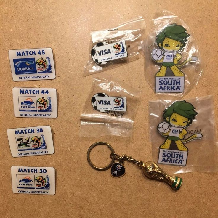 FIFA 2010 South Africa World Cup Pin & Keychain Set 9 Items Total NEW  | eBay