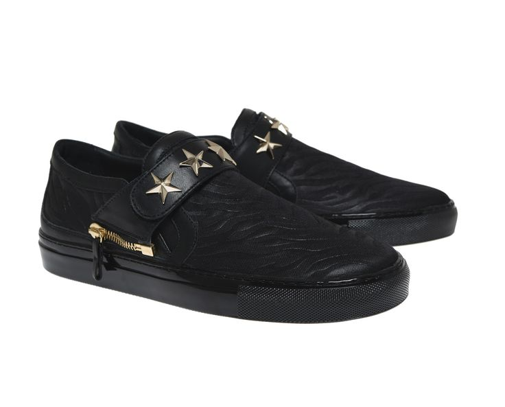 Abigail black fabric and black strap  studded with golden stars