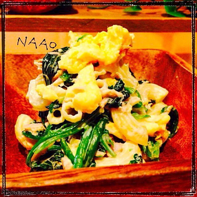 ♥️母の味♥️ほうれん草とツナ卵マカロニサラダ