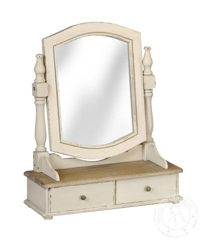 Country Dressing Table Mirror With 2 Drawers