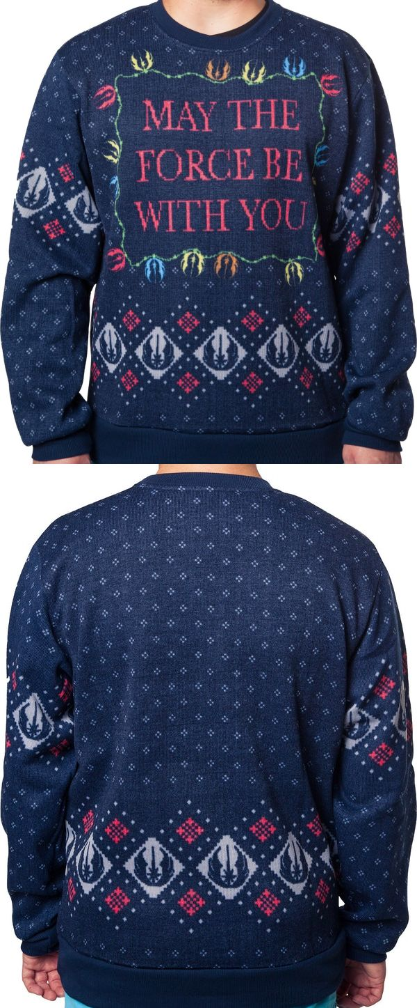 star wars christmas sweaters, ugly mens christmas sweaters, may the force be with you sweaters