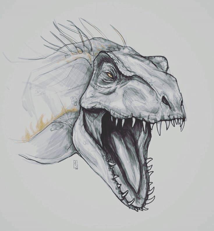 Динозавр картинки карандашом