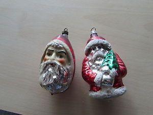 Antiker Christbaumschmuck 2 teilig Weihnachtsmänner  | eBay