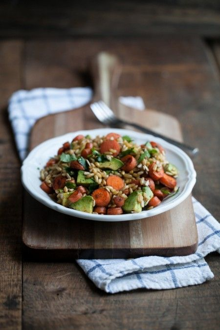 Chipotle Carrot, Avocado, and Kamut Salad from Naturally Ella