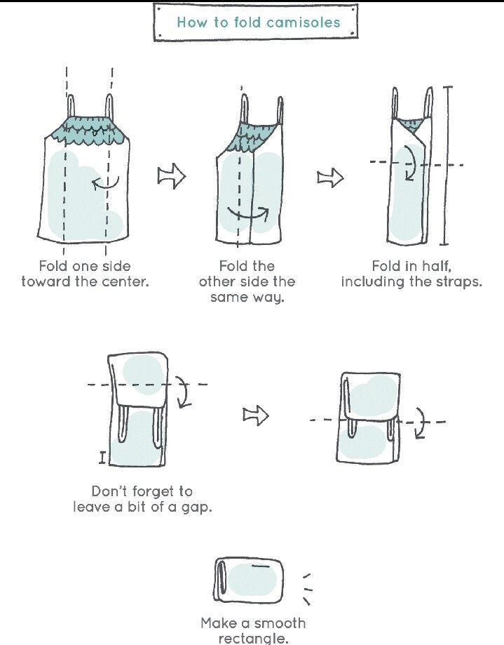 konmari folding method for camisoles