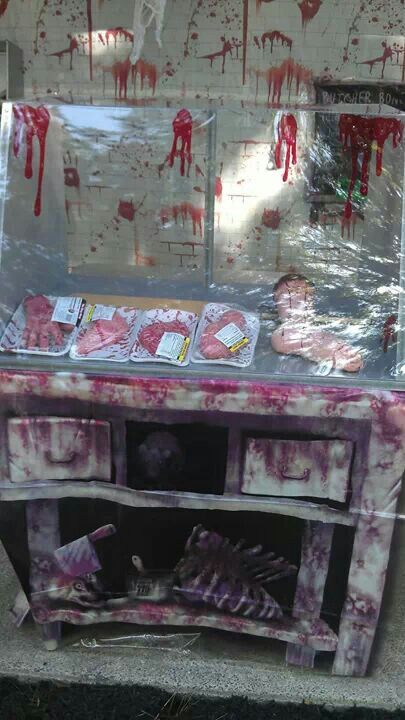 Butcher shop meat case