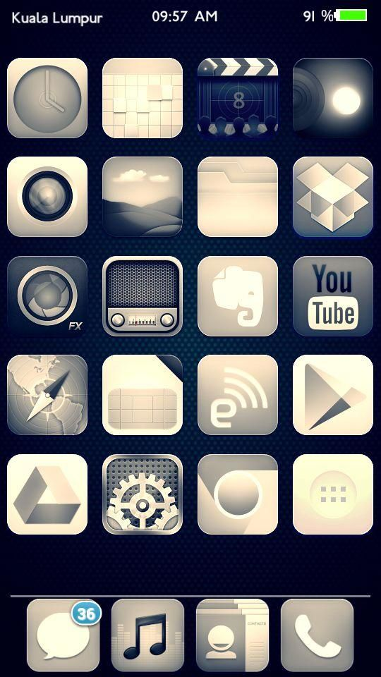 [Homepack Buzz] Check out this awesome homescreen! Rais Khairi | I'm On Something IOS ^ 나는 뭔가에있어  ios7 dark theme...