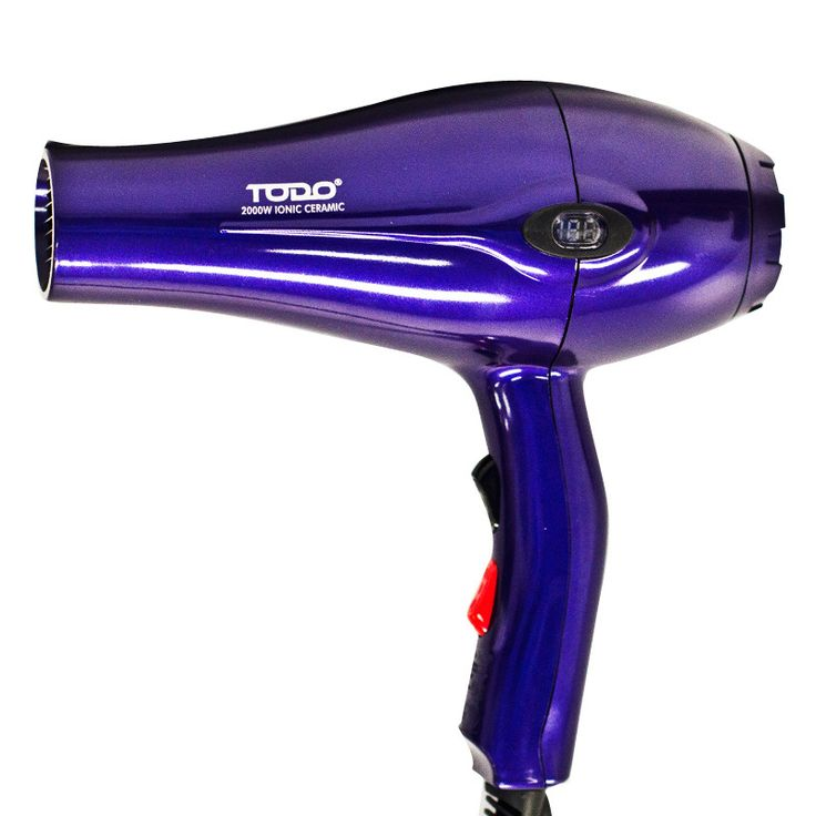 Ionic Anti Frizz Hair Dryer w/ LCD Display - Purple | Buy Hair Care