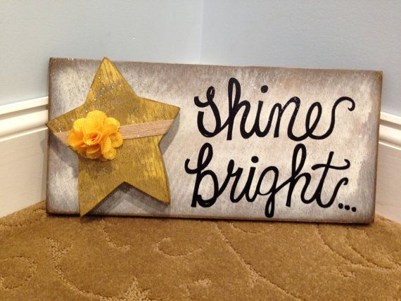 Shine bright. Modern Prims. Rustic wood sign. Signs by ModernPrims
