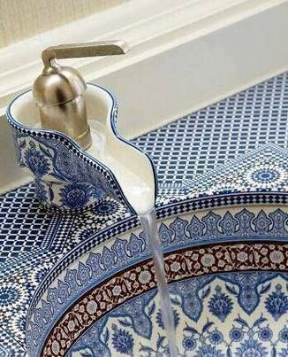 Moroccan Decor -Ceramic sink and tap