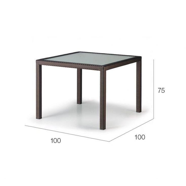 PANAMA DEDON Esstisch quadratisch, 100 cm  • DEDON PANAMA Outdoor Gartenmöbel