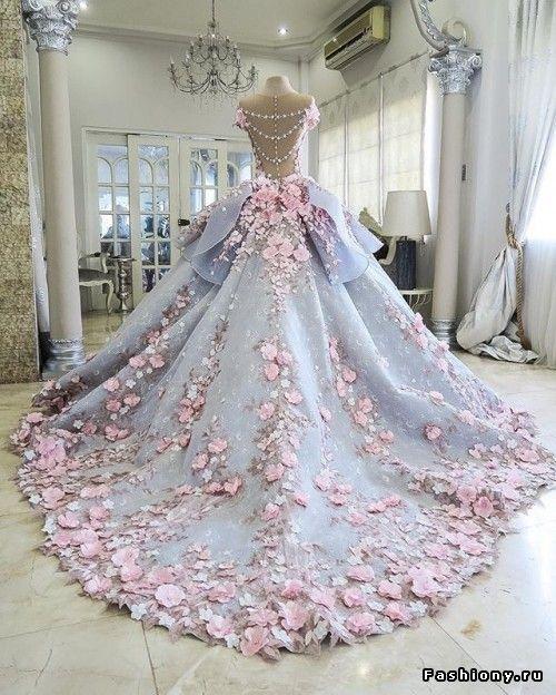 Шик и блеск! Экзотические свадебные платья!
