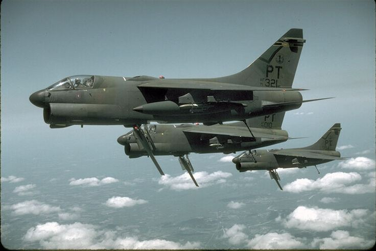 A-7 Corsair aircraft in flight