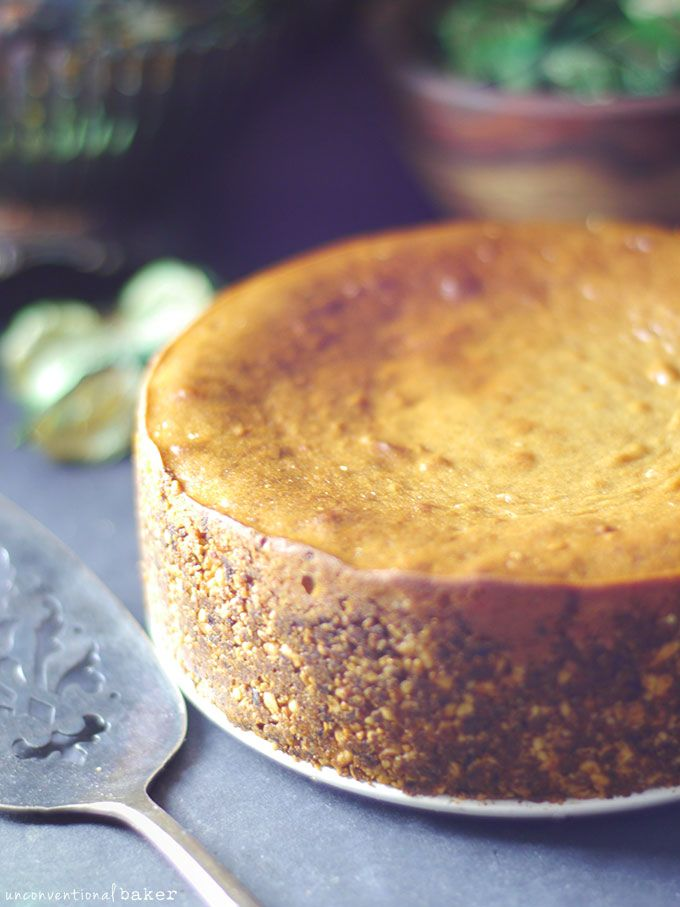 Easy Baked Cheesecake (Without the Dairy, Gluten, Eggs, Refined Sugar, Soy... and many other things...)