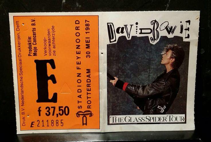 Kaartje concert 1987 David Bowie