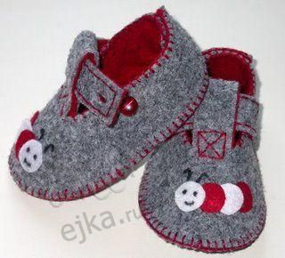 Baby booties with their hands - some patterns
