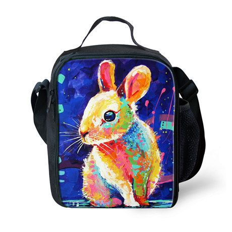 Children Lunch Bags for Boys and Girls, Fashion Animals Lunchbox Bag for Kids,Print Thermal lunch Bag for Teenager Picnic Box,