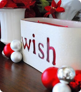 DIY personalized holiday candles
