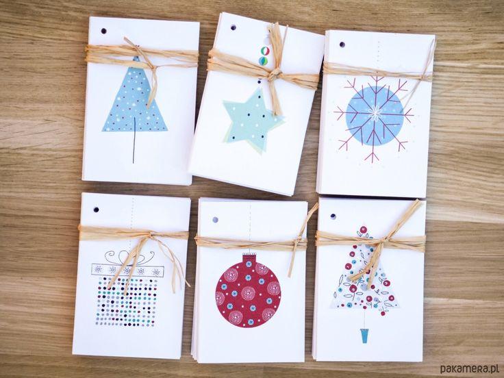 kartki okolicznościowe, zakładki do książek-6 x bileciki do prezentów na święta